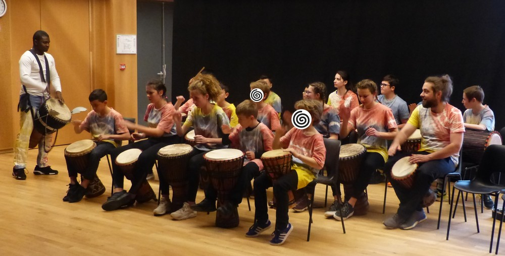 Stage Percussions et chant